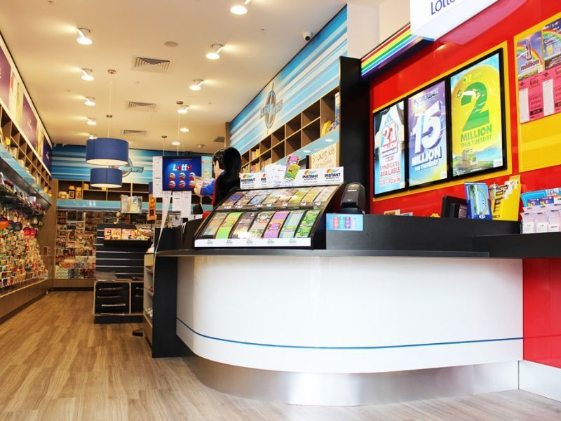 Ace Fitouts - Flash Newsagency Fitout - NSW Lotteries Fitout - Shopfitting The Ponds, Sydney