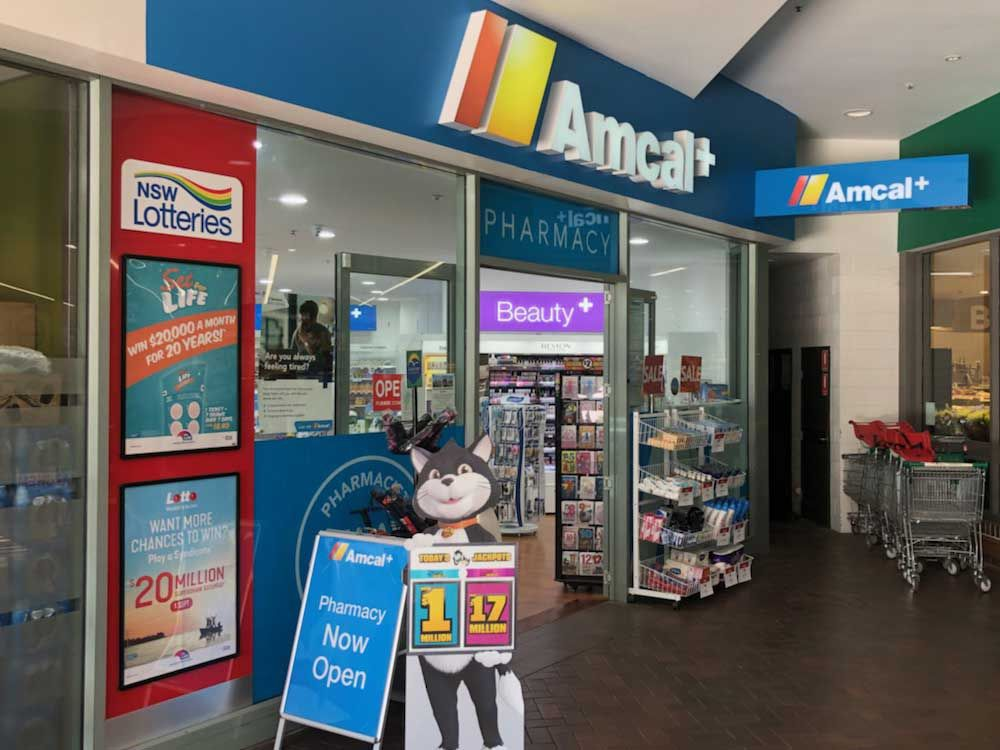 Ace Fitouts - Amcal+ Pharmacy Fitout - NSW Lotteries Fitout - Shopfitting Newington