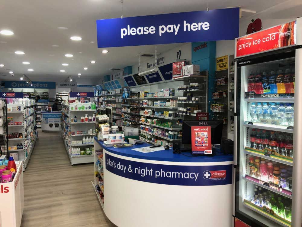 Ace Fitouts - Pikes Pharmacy Fitout - Burwood, Sydney